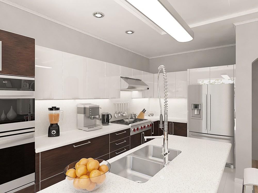 visualización 3D del proyecto en el Cocina 3d max render vray Alyona