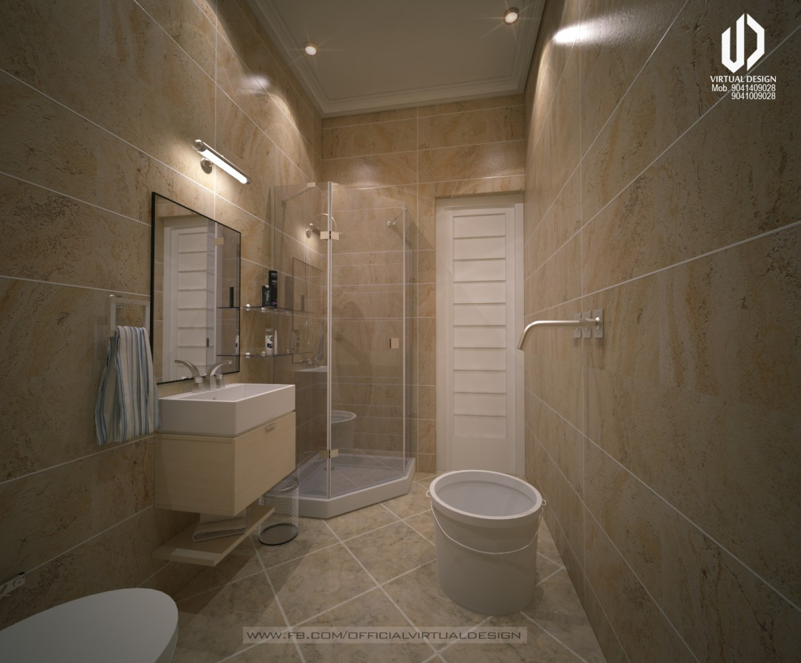 3d visualization washroom design for House washroom design