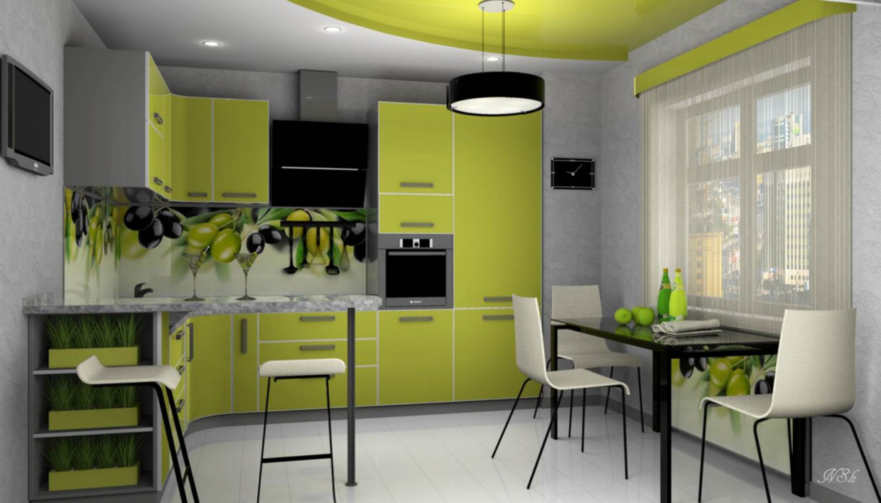 """3d visualization of the project in the Kitchen """"Olives"""". Other thing, render Other of Наталья Nansi"""