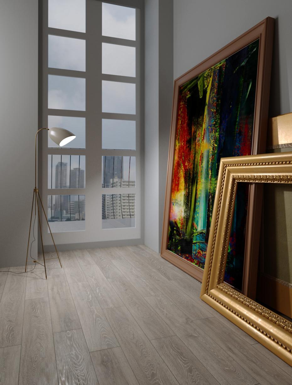 खिड़की से चित्र 3d max corona render में प्रस्तुत छवि