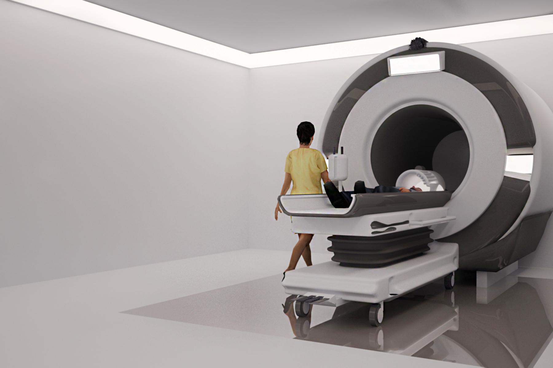MRI machine in 3d max vray 3.0 image