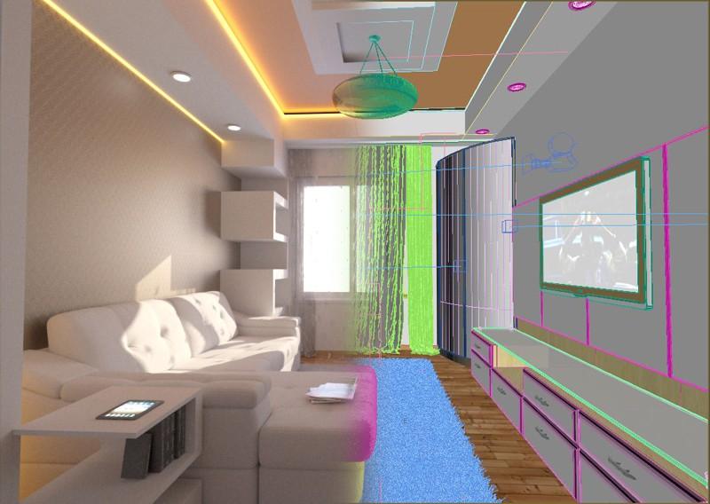 Спальня гостиная в 3d max Other изображение