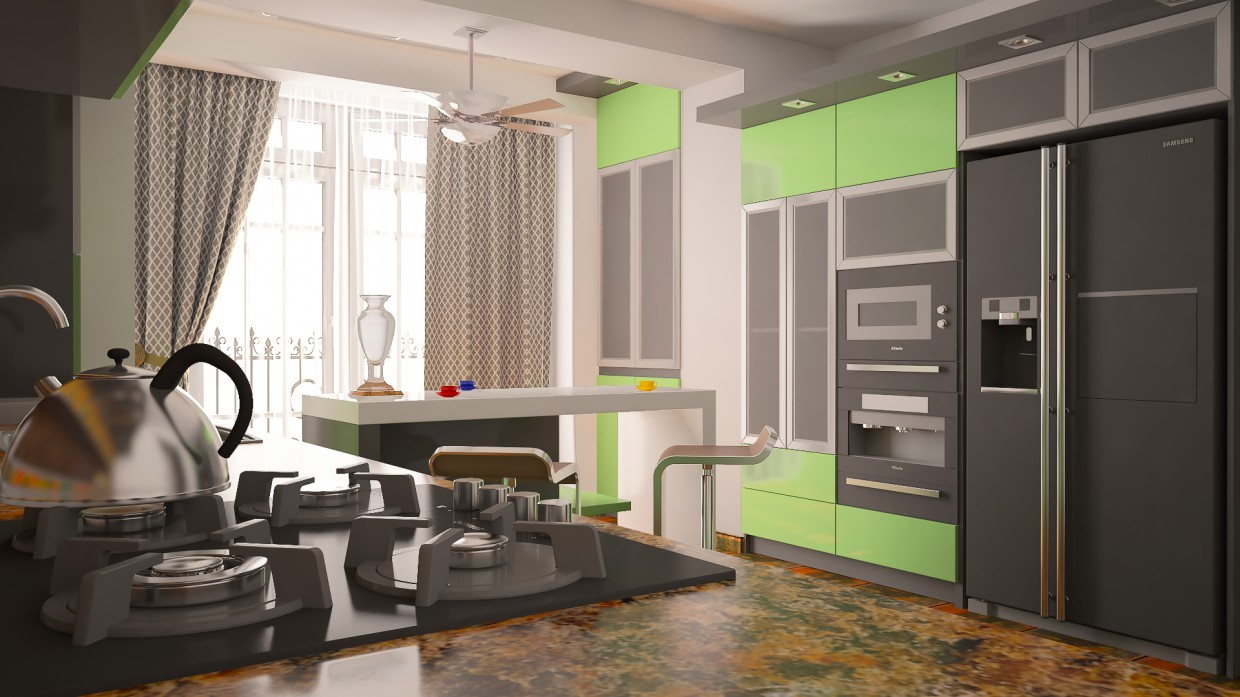Kitchen-ArtSem in 3d max vray image