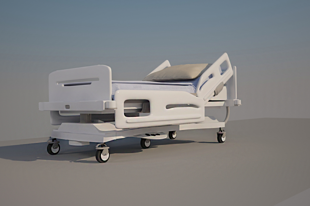 functional medical bed in 3d max vray 3.0 image