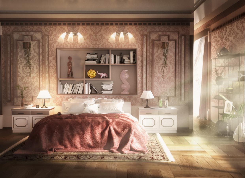 Art-Deco interior (3D mAX, Corona renderer, Photoshop) in 3d max corona render image