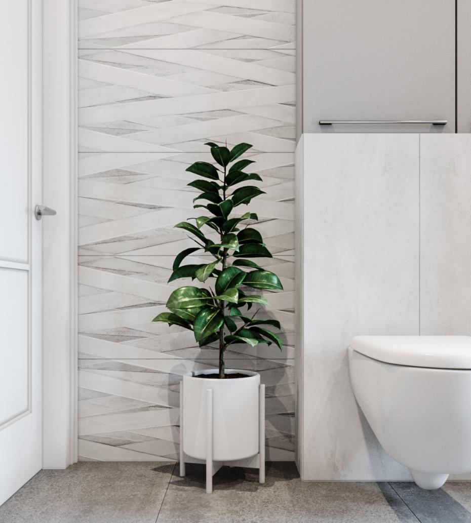 उज्ज्वल बाथरूम 3d max corona render में प्रस्तुत छवि