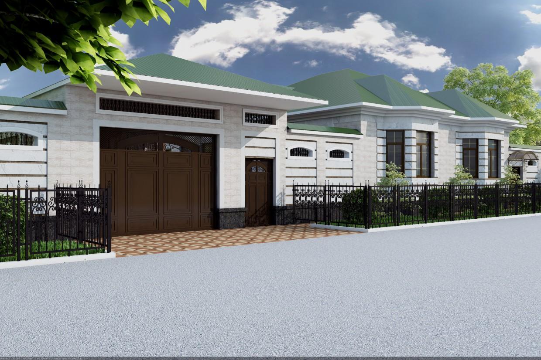 Жилой дом в 3d max vray 3.0 изображение