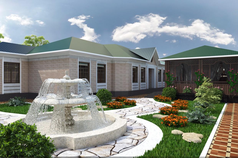 Житловий будинок в 3d max vray 3.0 зображення