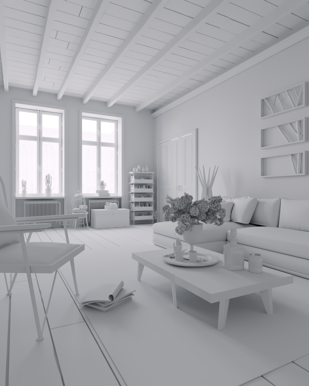 Interior visualisation in 3d max corona render image