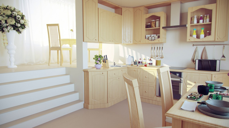 Кухня в 3d max corona render изображение