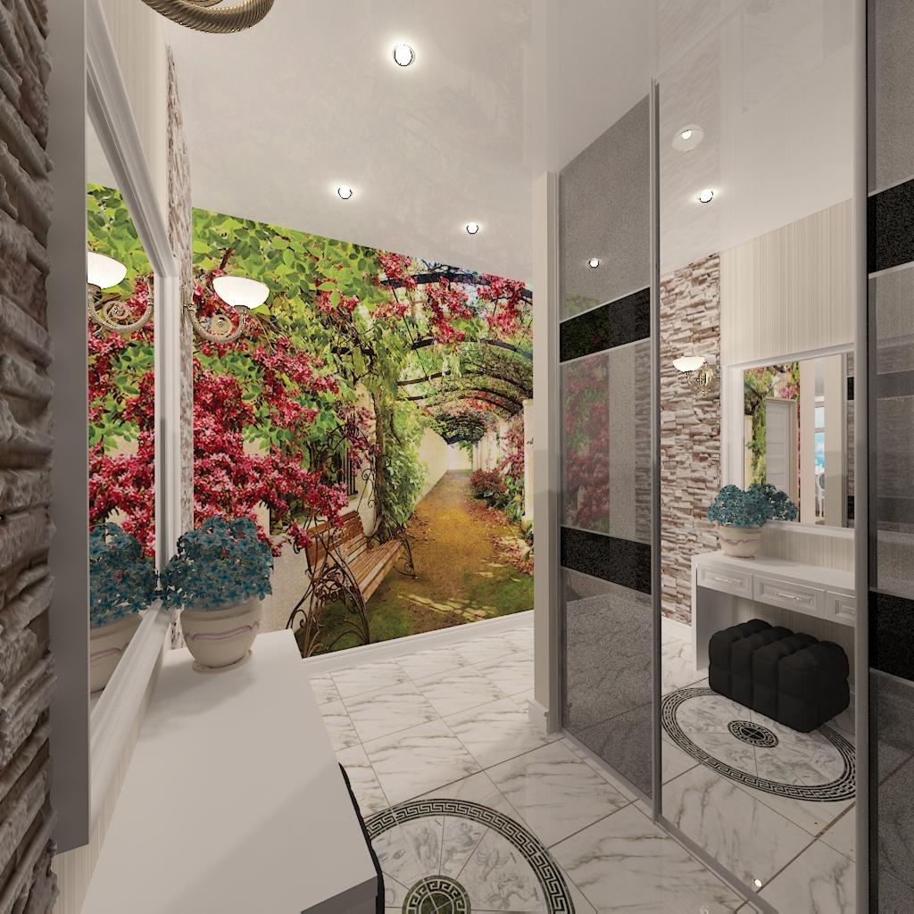 hallway in 3d max vray 2.0 image