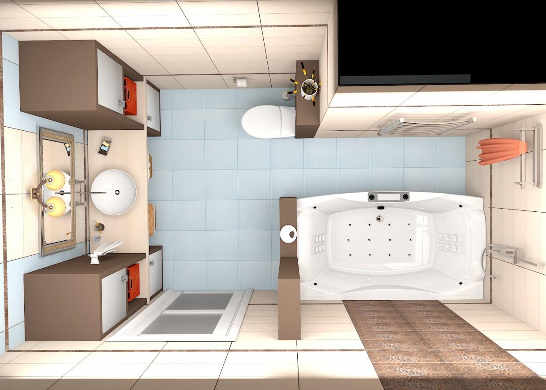 imagen de WC 7,5 m2 en 3d max vray