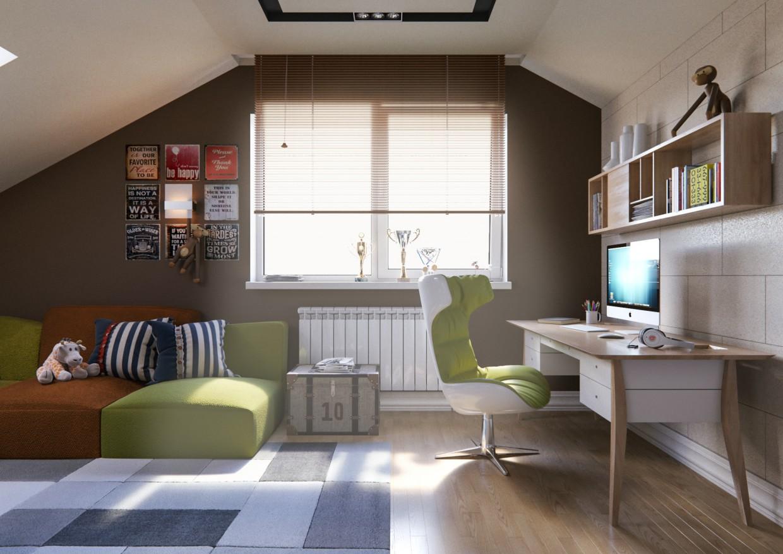 imagen de Dormitorio de un niño en 3d max corona render