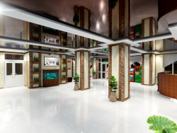 3D design of the interior reconstruction of the sanatorium building. (Video attached)