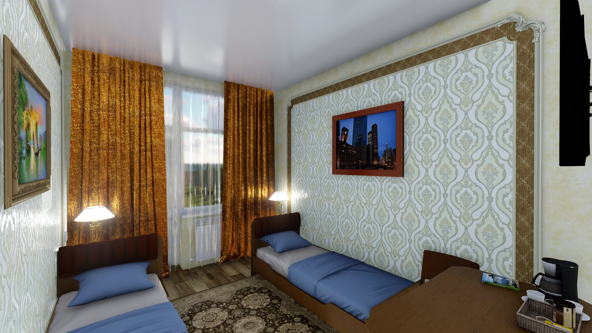 3D design of the interior reconstruction of the sanatorium building. (Video attached) in Cinema 4d Other image