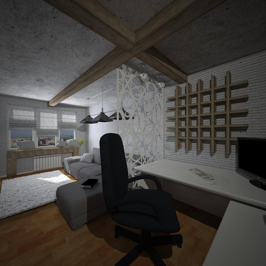 Sala principal em 3d max vray imagem
