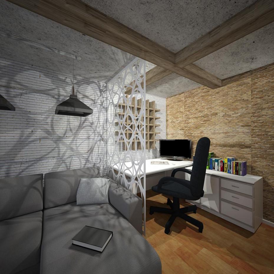 Загальна кімната в 3d max vray изображение