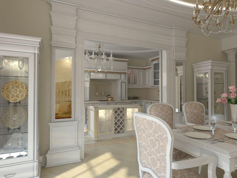 двухуровневая квартира г. Чита в 3d max vray изображение