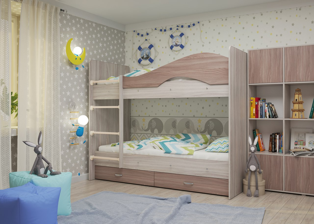Children's rooms in 3d max vray 3.0 image