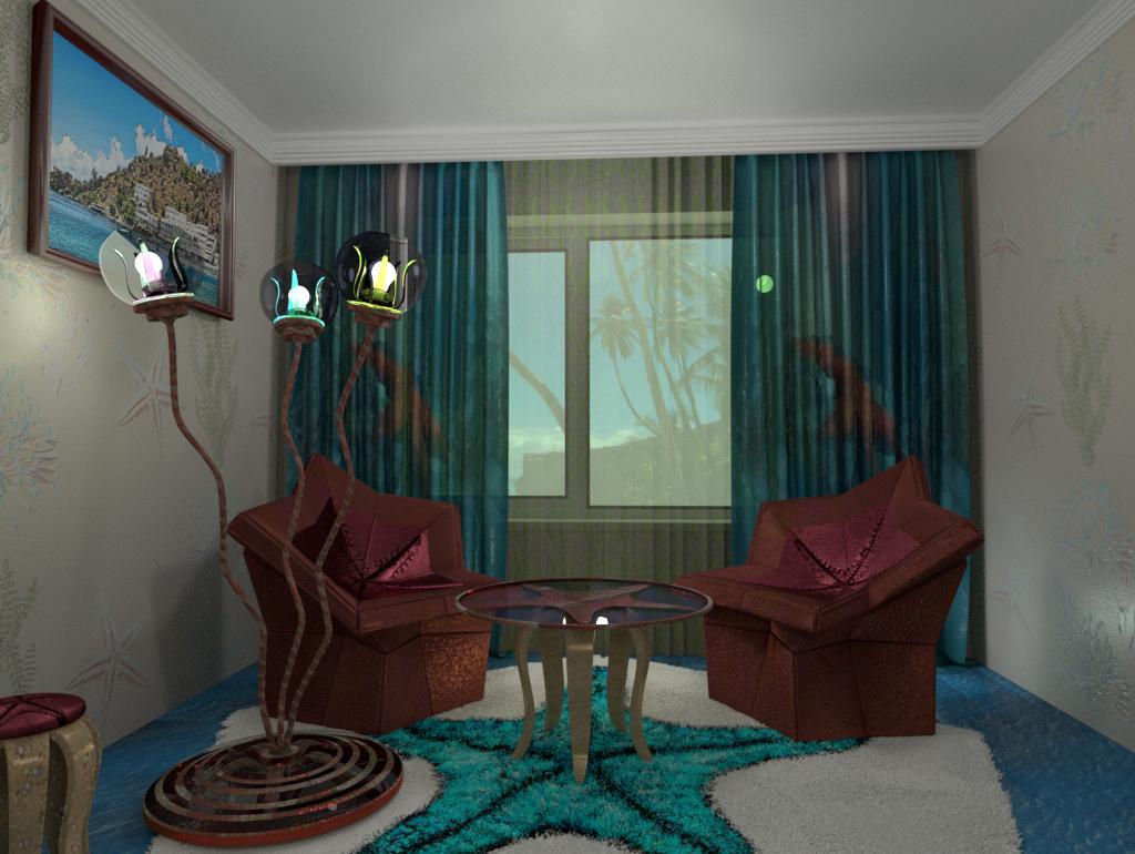 """""""स्टारफिश"""" Blender cycles render में प्रस्तुत छवि"""