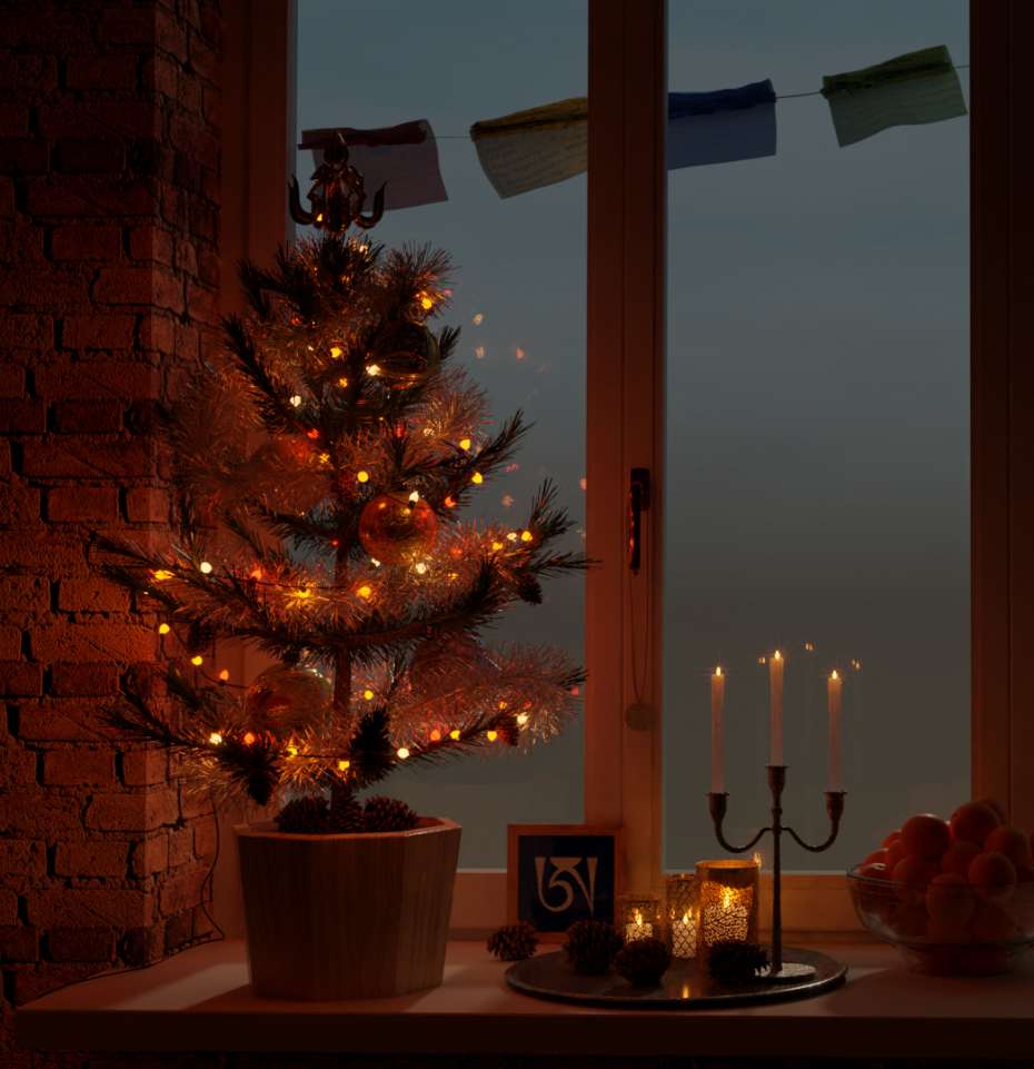 Holiday greetings! in Blender cycles render image
