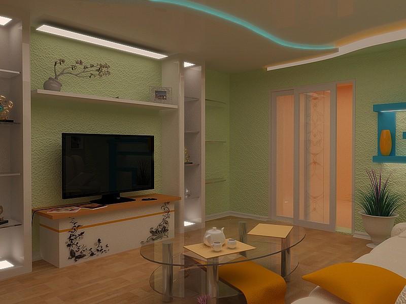 imagen de Salón en 3d max vray
