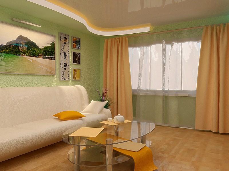 Гостиная комната в 3d max vray изображение