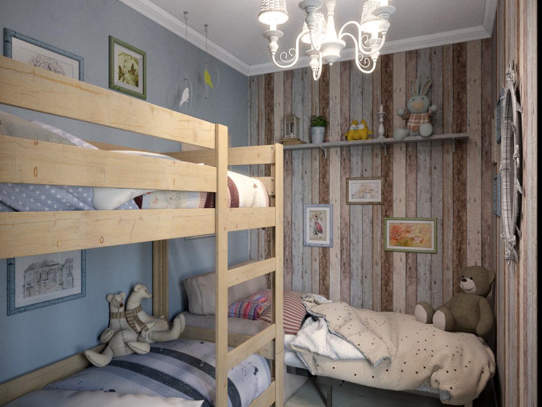 Детская и Гостинная в 3d max corona render изображение