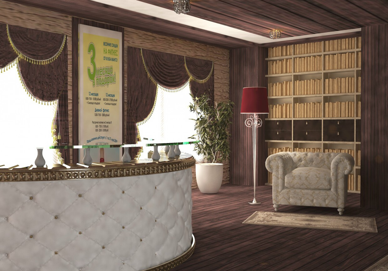3d visualization of the project in the Hall, reception 3d max, render vray 3.0 of Татьяна11190