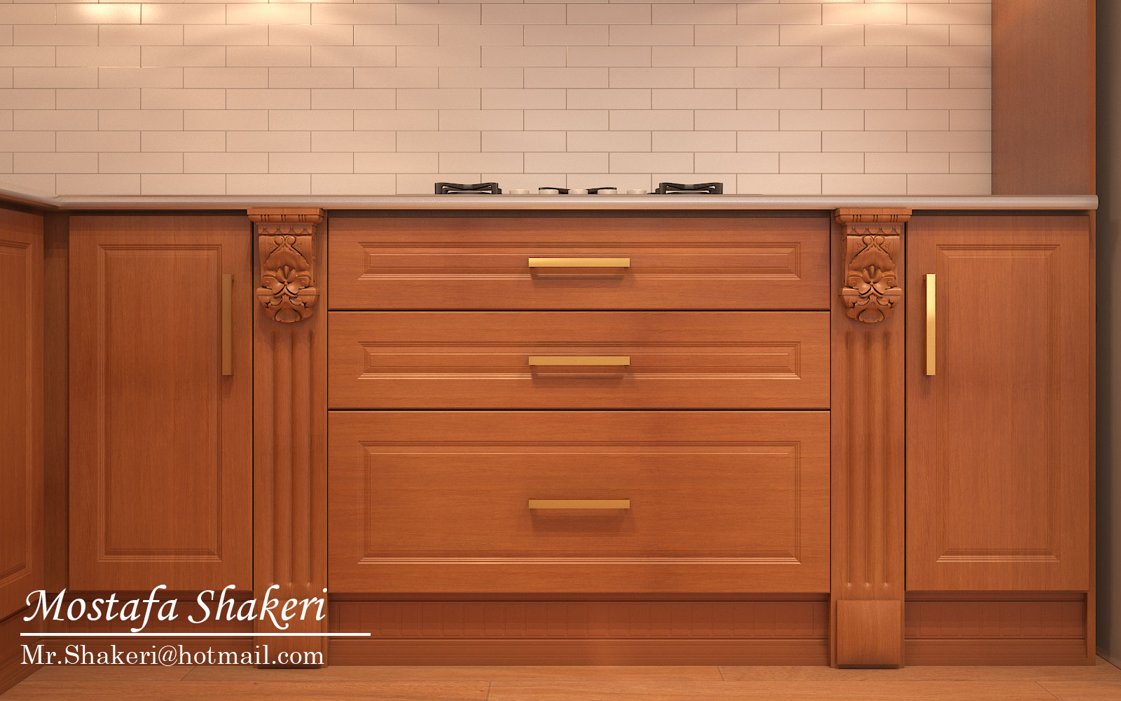 Kitchen classic in 3d max vray 3.0 image