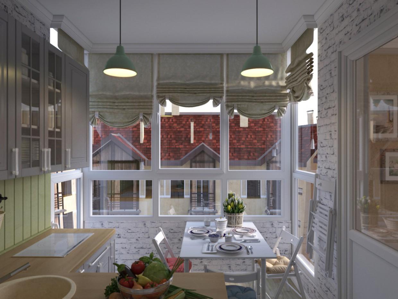3d візуалізація проекту Кухня в 3d max, рендер corona render від winter