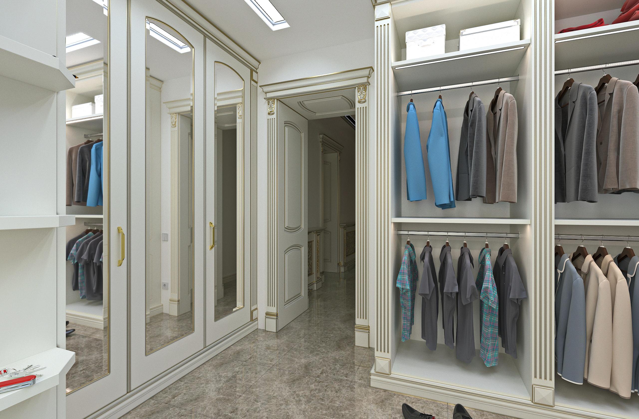Вбиральня в класичному стилі в SolidWorks vray 3.0 зображення