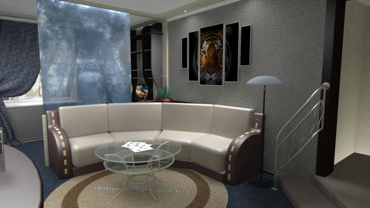 Interior design of an apartment  in  3d max   vray 1.5  image