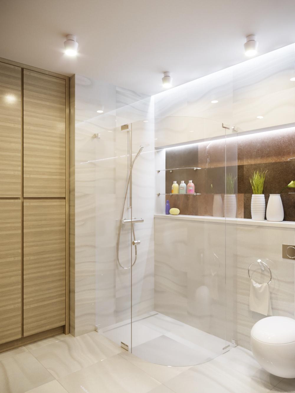 Salle de douche et dressing dans 3d max corona render image