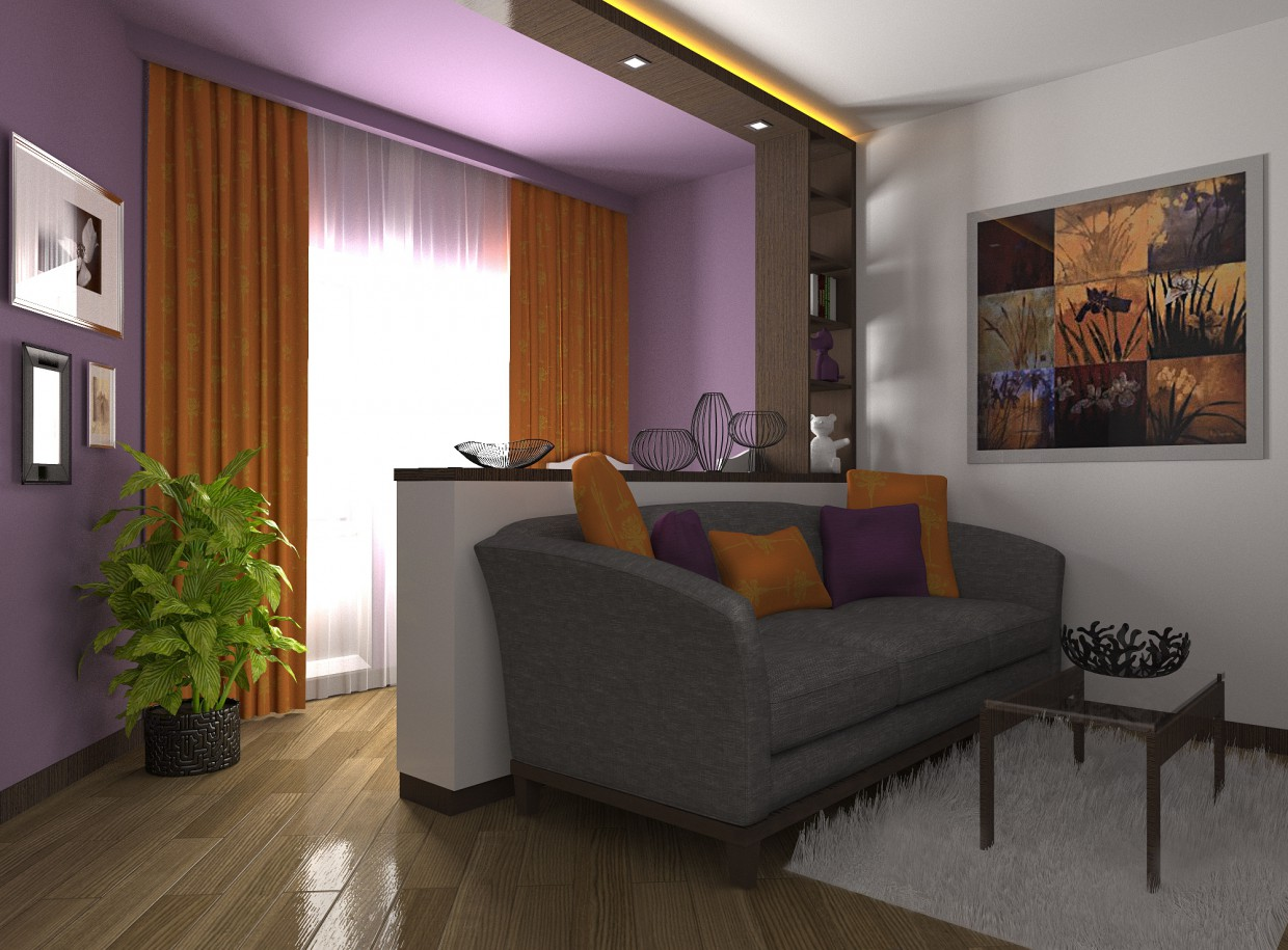 living room in 3d max Other image