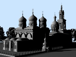 3d reconstruction of St. Basil's Cathedral and Trinity Church