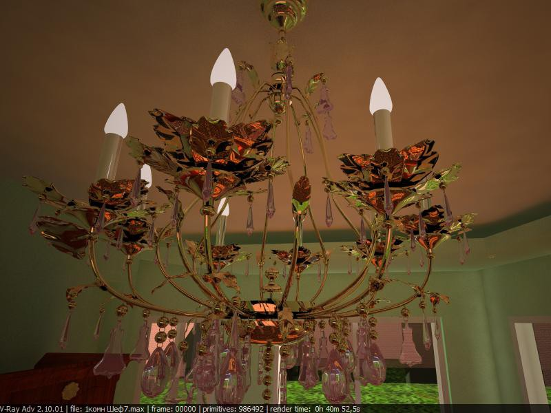 chandelier in 3d max vray image