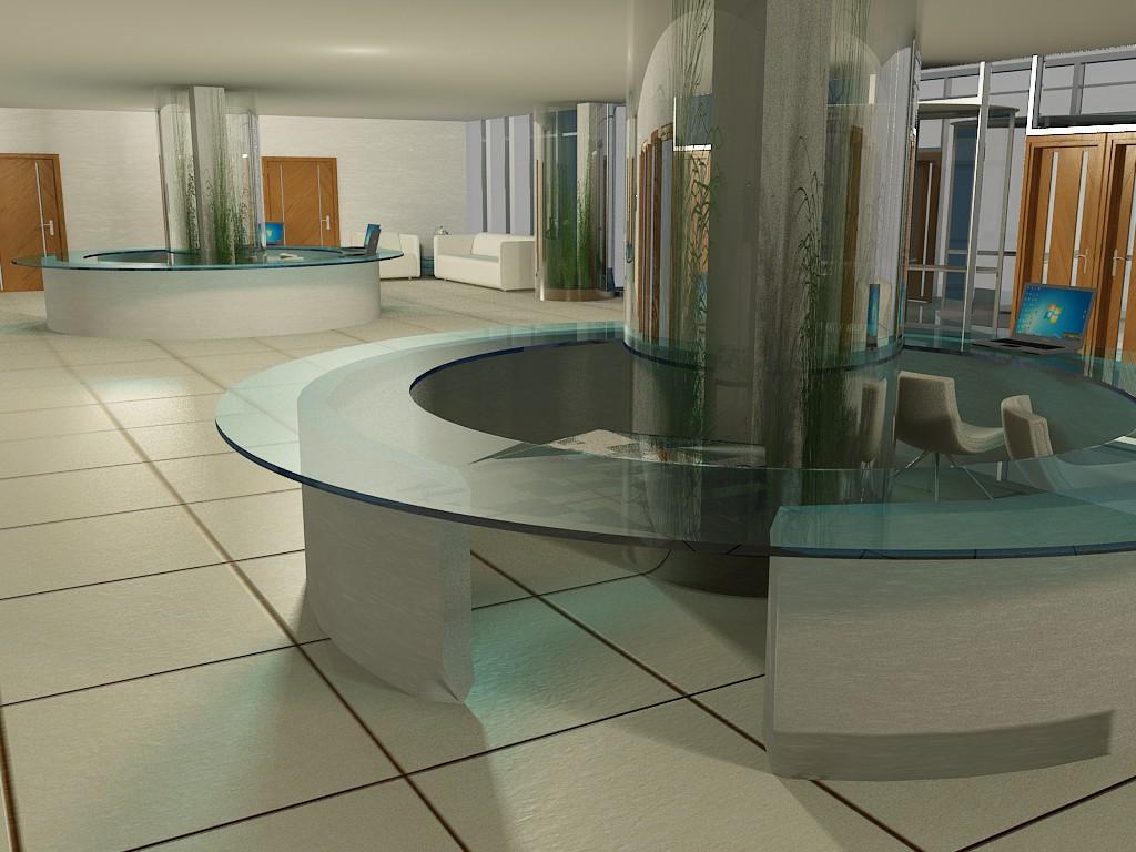 Хол адміністративної будівлі в 3d max vray зображення