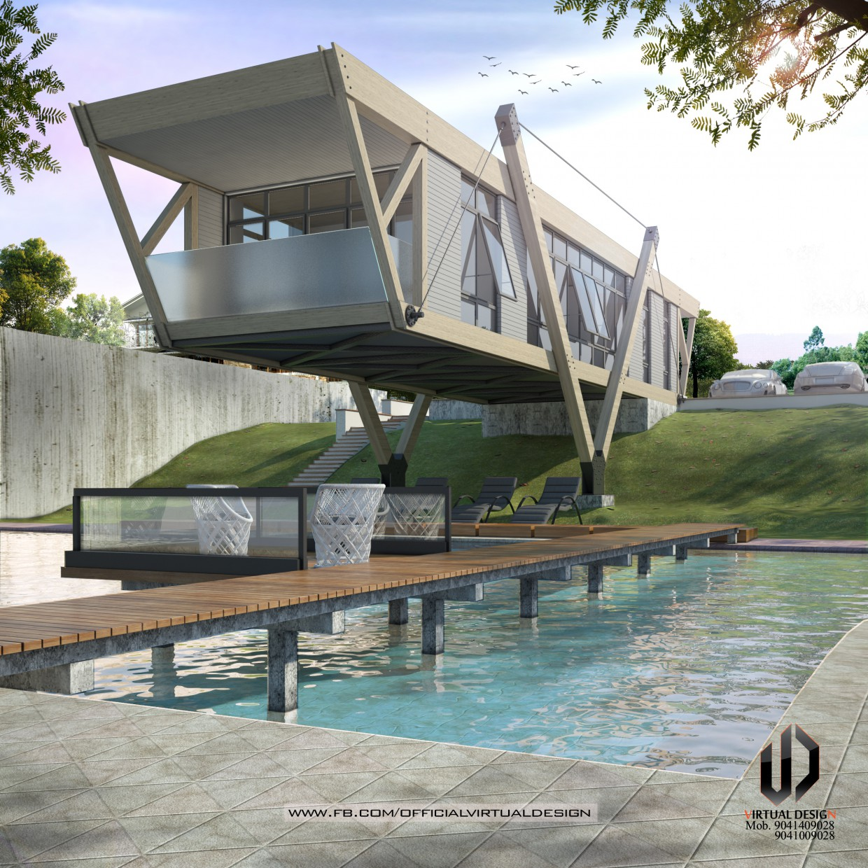 3d visualization of the project in the AMAZING EXTERIOR 3d max, render vray 3.0 of gagan matharu