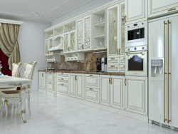 The kitchen in classical style