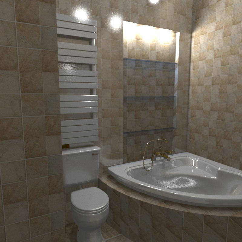 3d visualization of the project in the Bathroom 3d max, render Other of Helena Che