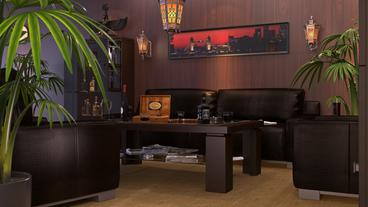 Cigar room in SolidWorks vray 3.0 image