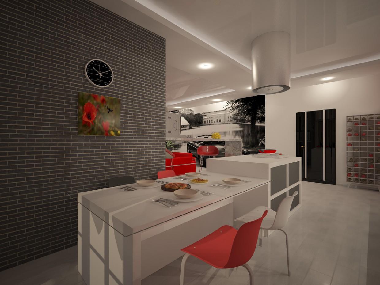 3d візуалізація проекту Кухня в 3d max, рендер vray від Василина