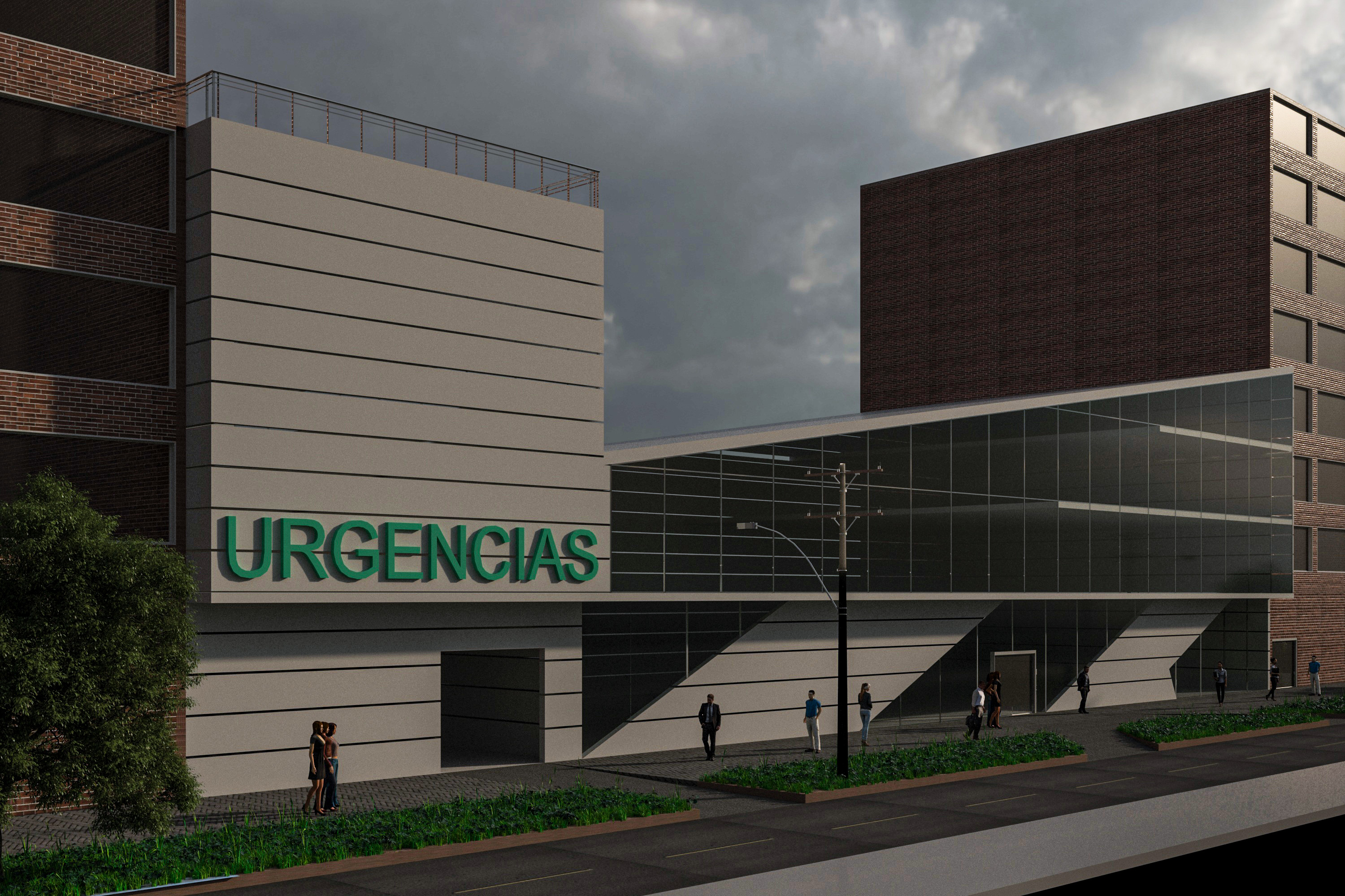 Hospital in the city of Bogotá in 3d max vray 3.0 image