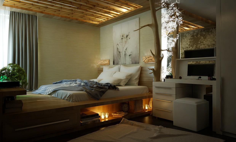 Квартира Эко дизайн в 3d max vray изображение