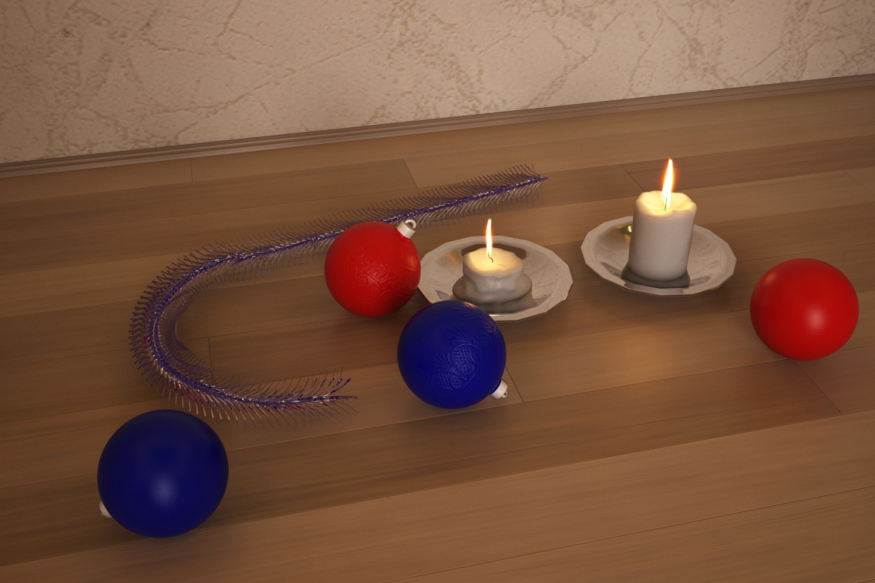pre-holiday mood in 3d max vray 3.0 image
