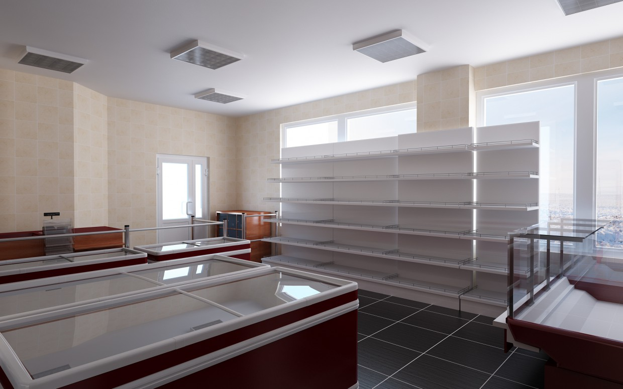 Shop in 3d max vray image