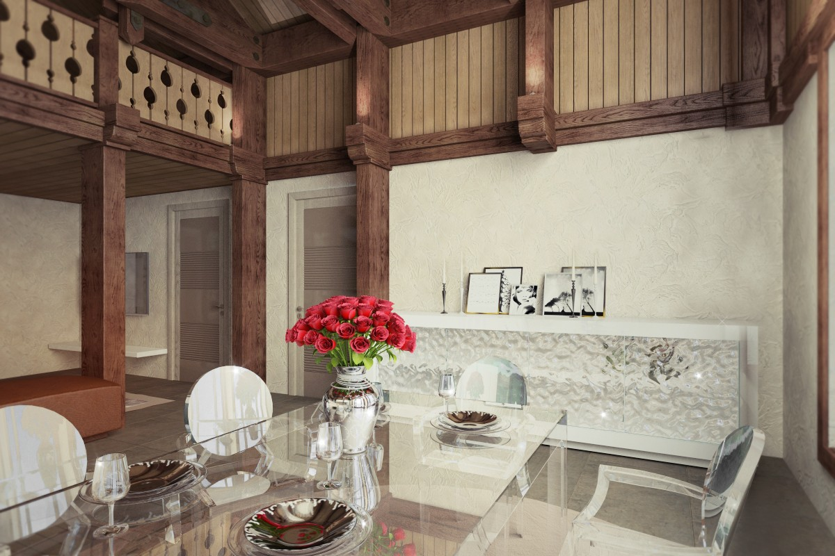 Holiday chalet-style glamor in 3d max vray image