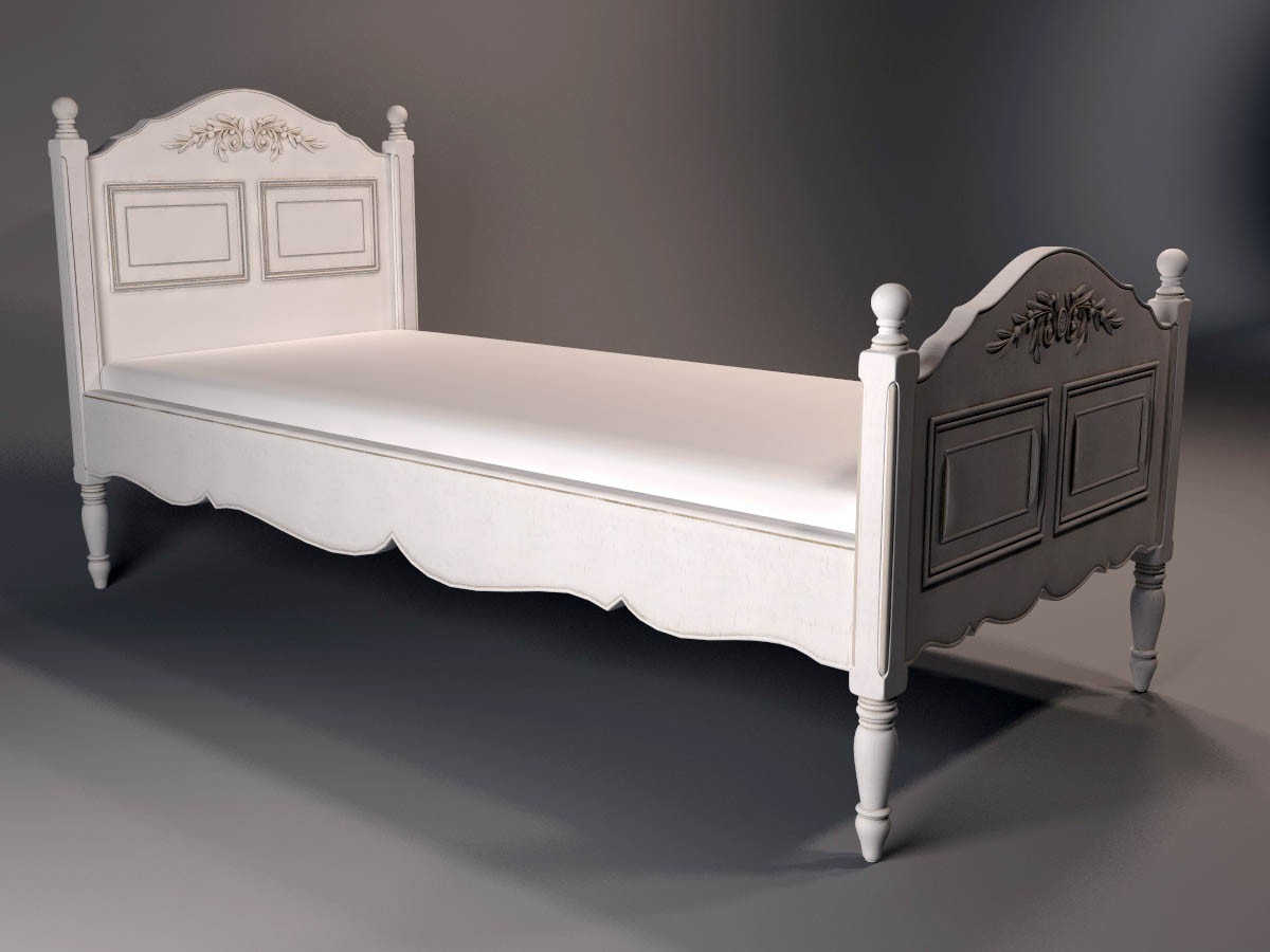 Bed in 3d max vray image