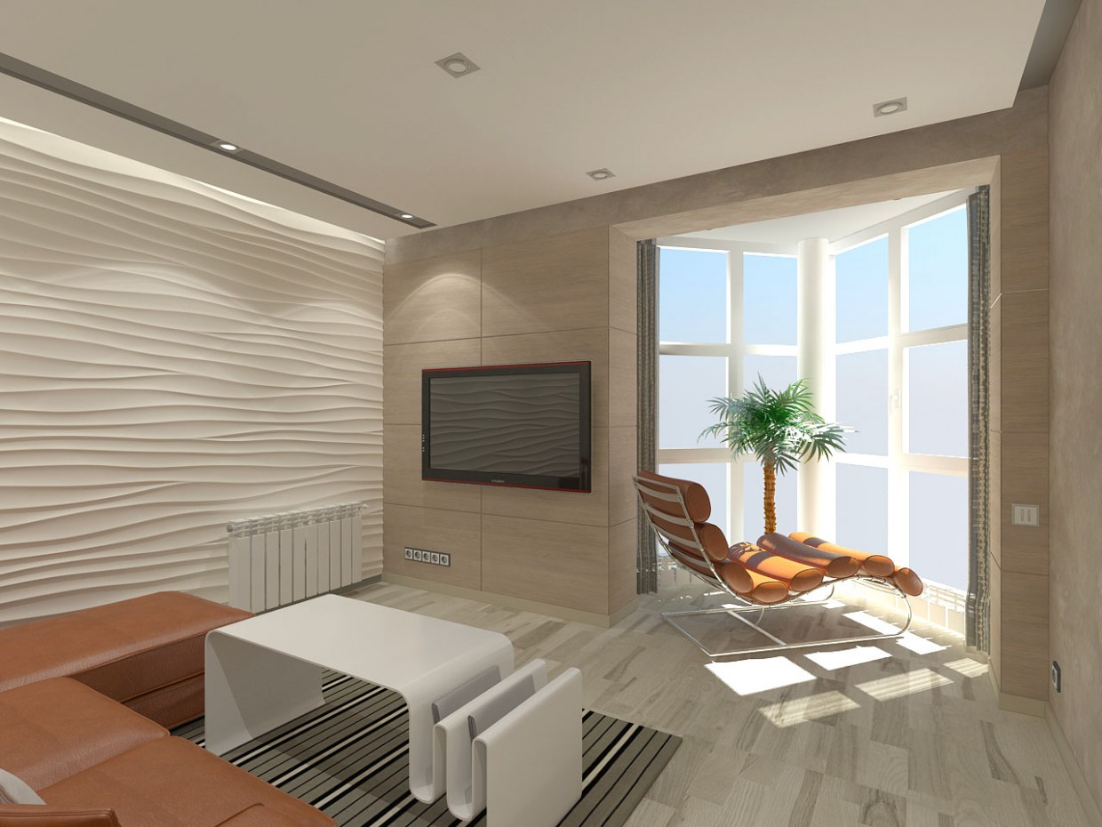 Apartment on the top floor of the 2015 in 3d max vray image